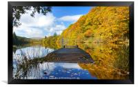 Autumn colours at the Jetty , Framed Print