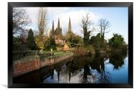 Lichfield Three Spires Cathedral  , Framed Print