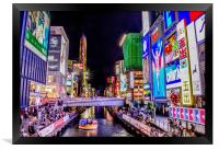 Dotonbori, Osaka at night, Framed Print