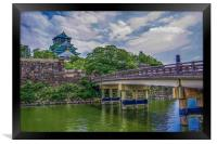 Osaka Castle, Framed Print