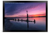 Bembridge Harbour Sunset, Framed Print