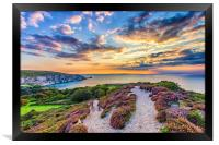 Sunset At The Needles Isle Of Wight, Framed Print