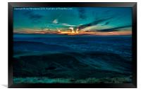 Sunset From Pen Y Fan Brecon Beacons, Framed Print