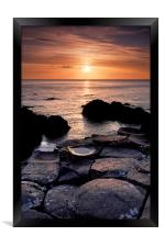 The Giants Causeway, Framed Print