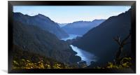 Doubtful Sound from Wilmott Pass, Framed Print