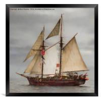 Atyla tall ship, Framed Print