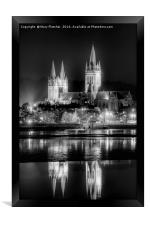 Truro Cathedral in Black and White, Framed Print