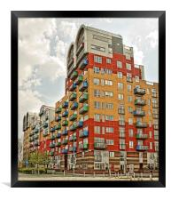 Colourful Tower Block, Framed Print