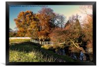 Autumn By The River Leven, Framed Print