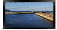 Entrance To Whitby Harbour , Framed Print