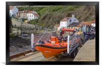 Staithes Inshore Lifeboat, Framed Print