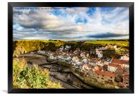 The Village of Staithes , Framed Print
