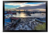 Fishing Boats At Rest, Framed Print