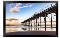 Saltburn in the afternoon light , Framed Print