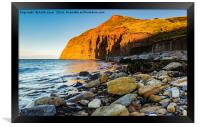 As the sun sets Skinningrove., Framed Print