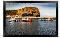 Staithes Harbour , Framed Print