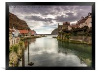 Staithes Harbour, Framed Print