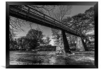 Bridge over the river Esk, Framed Print