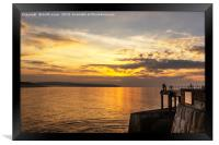 Watching the sunset Whitby, Framed Print