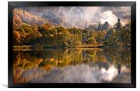 Playing Mirror. Loch Achray. Scotland, Framed Print