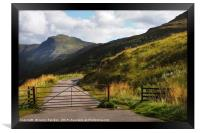 Gates. Rest and Be Thankful. Scotland, Framed Print