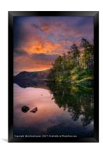 By the Lake side, Framed Print