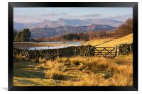 Gate through to the Langdale Pikes, Framed Print
