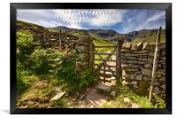 Gate To The Old Man Of Coniston, Framed Print