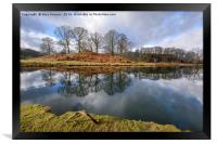 Reflections On The River Brathay, Framed Print