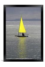Learning to sail, Framed Print