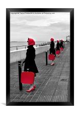 Red Ladies, Framed Print