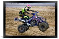 Quad bike race, Framed Print