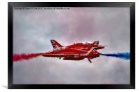 Red Arrows Painting the Sky 2015, Framed Print