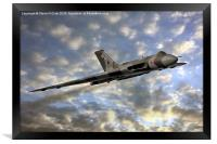 The Sun Sets on XH558, Framed Print