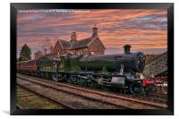 Great Western Railway Engine 2857 at Sunset, Framed Print