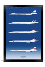 Concorde 1969 to 2003, Framed Print