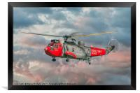 Royal Navy Search and Rescue Sea King Helicopter, Framed Print