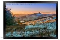 Sunset on Hadrian's Wall in Northumbria, Framed Print
