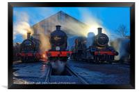Evening at Great Central Railway, Loughborough, Framed Print