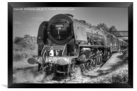 46233 Duchess Of Sutherland at Butterley., Framed Print