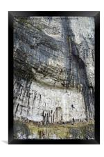 Climbers at Malham Cove, Framed Print