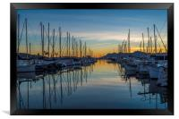 Reflections in the Port, Framed Print