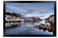 Early evening at Looe, Framed Print