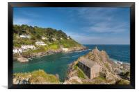 The Old Boat House Polperro on the Coast Path, Framed Print