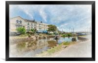 The Brook and fountain at Dawlish in South Devon, Framed Print