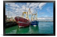 Fishing Trawlers at Brixham, Framed Print