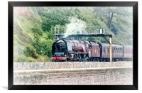 The Royal Duchy Steam Train at Teignmouth Devon, Framed Print