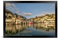 Early morning reflections on The River Looe, Framed Print