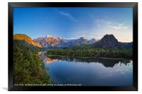 Summer evening at the Almsee, Framed Print