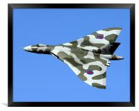 XH558 at the Windermere Airshow., Framed Print
